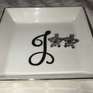 Jewelry - Beautiful blue and gold mini statement earrings